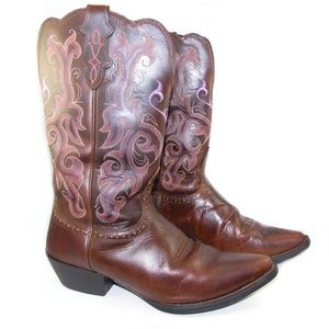 Justin Western Cowboy Boots Welt Single Stitch 9.5